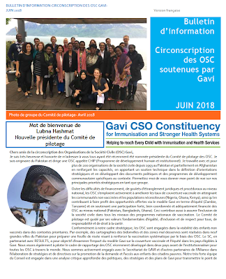 GAVI CSO Monthly Newsletter June - Francais